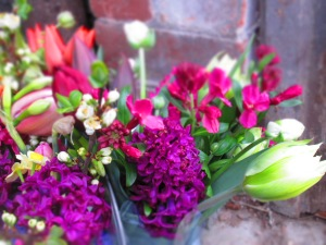 'woodstock', 'exotic emperor' and pink wallflowers